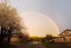 Rainbow over Lintech Cambridge Makers
