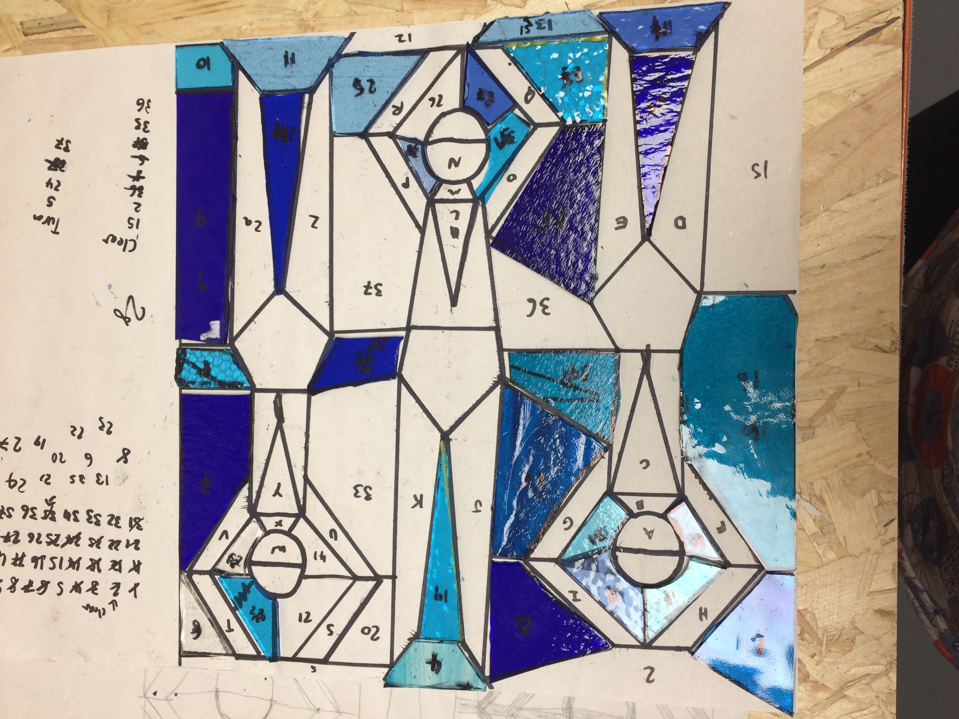 Making a stained glass window with Jill Fordham at Cambridge Art Makers