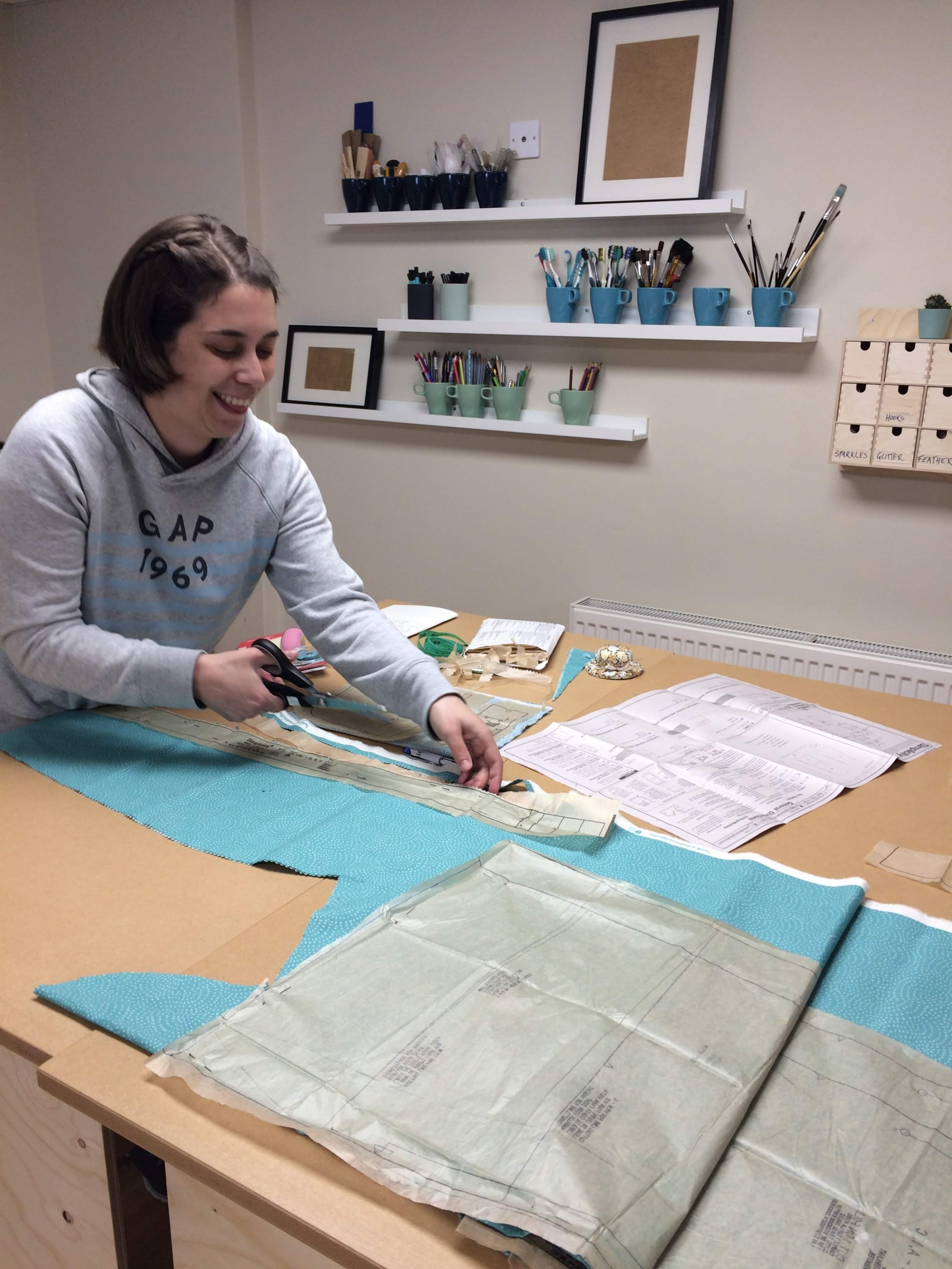 Rachel sewing course Dress Making with Gill Collinson at Cambridge Art Makers