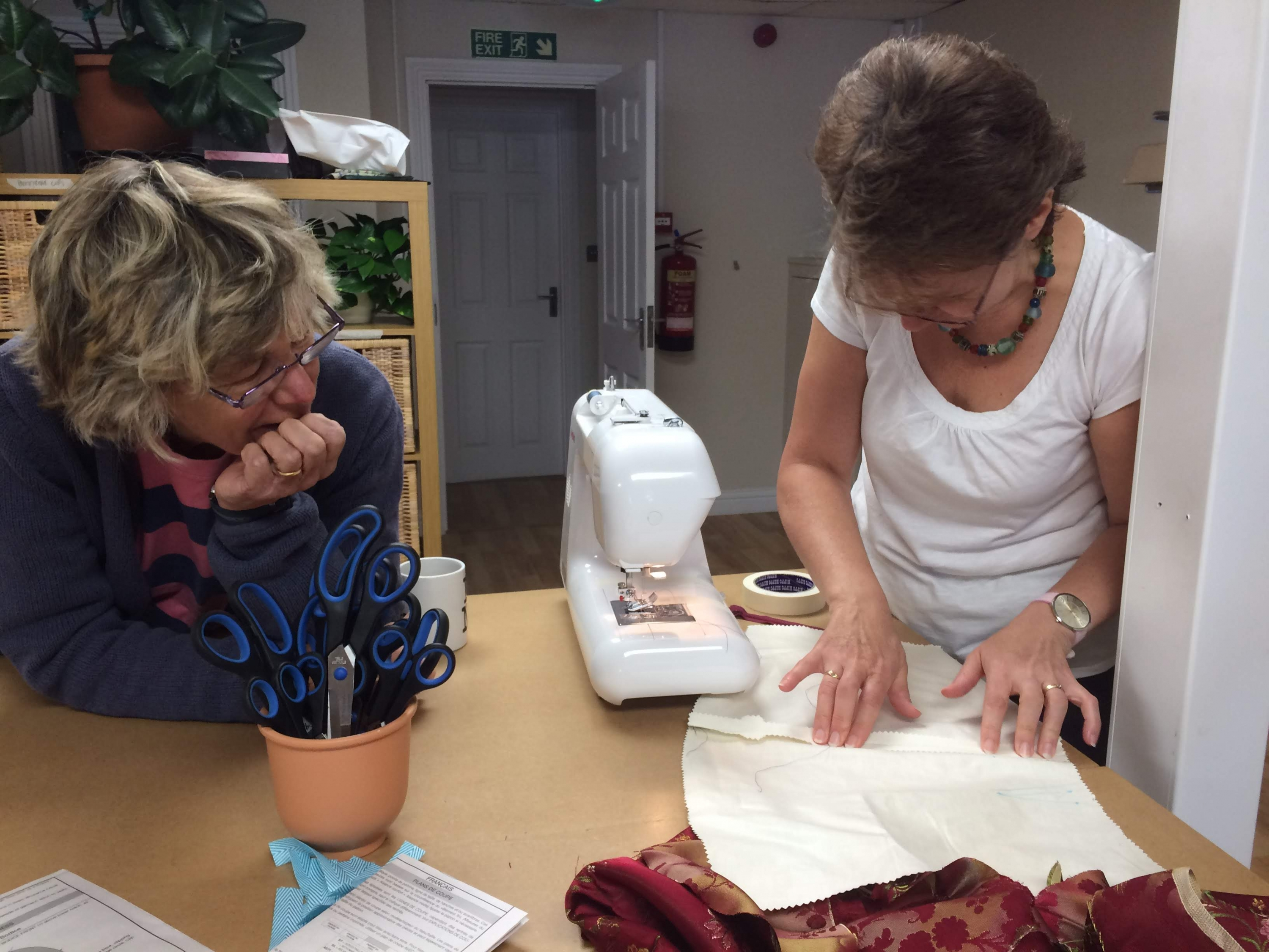 Dress making with Gill Collinson at Cambridge Art Makers