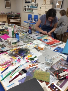 Mixed Media course with GIll Collinson at Cambridge Art Makers