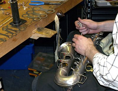 Repair saxophones with Daniel Bangham at Cambridge Woodwind Makers