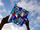 Susannah's stained glass from course with Jill Fordham at Cambridge Art Makers