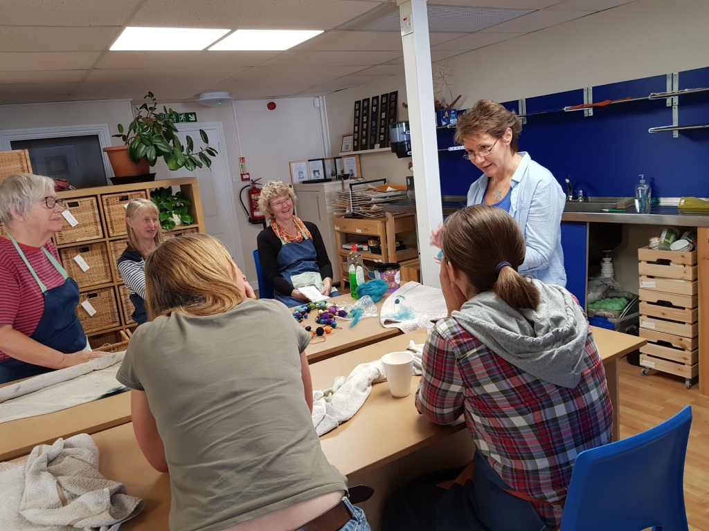 Gill Collinson Textiles & Mixed Media class at Cambridge Art Makers