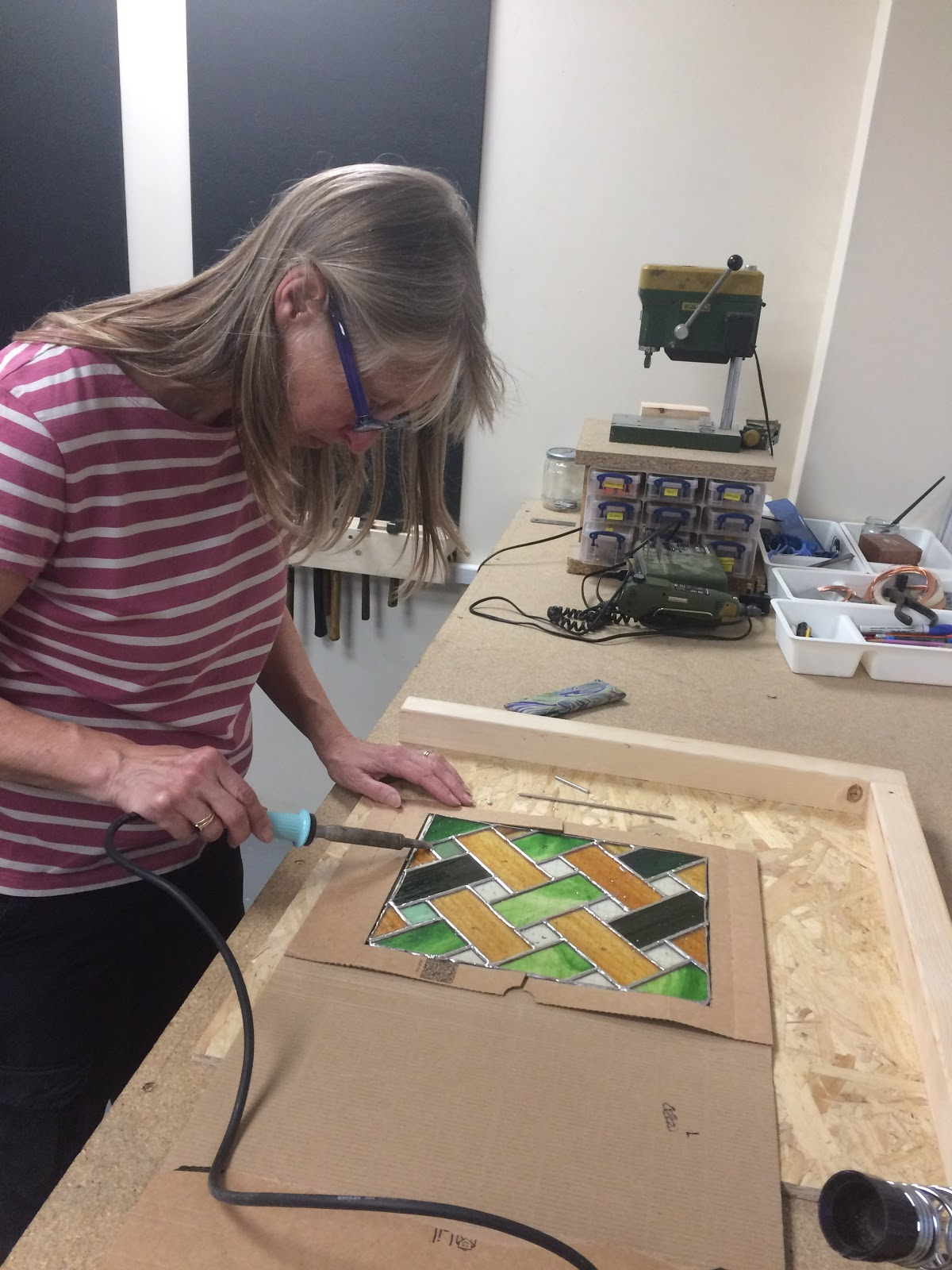 Stained Glass making with Jill Fordham at Cambridge Art Makers