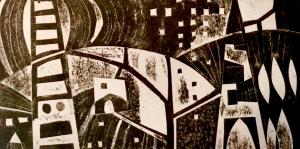 Black & White print Printmaking courses with Sue Jones at Cambridge Art Makers