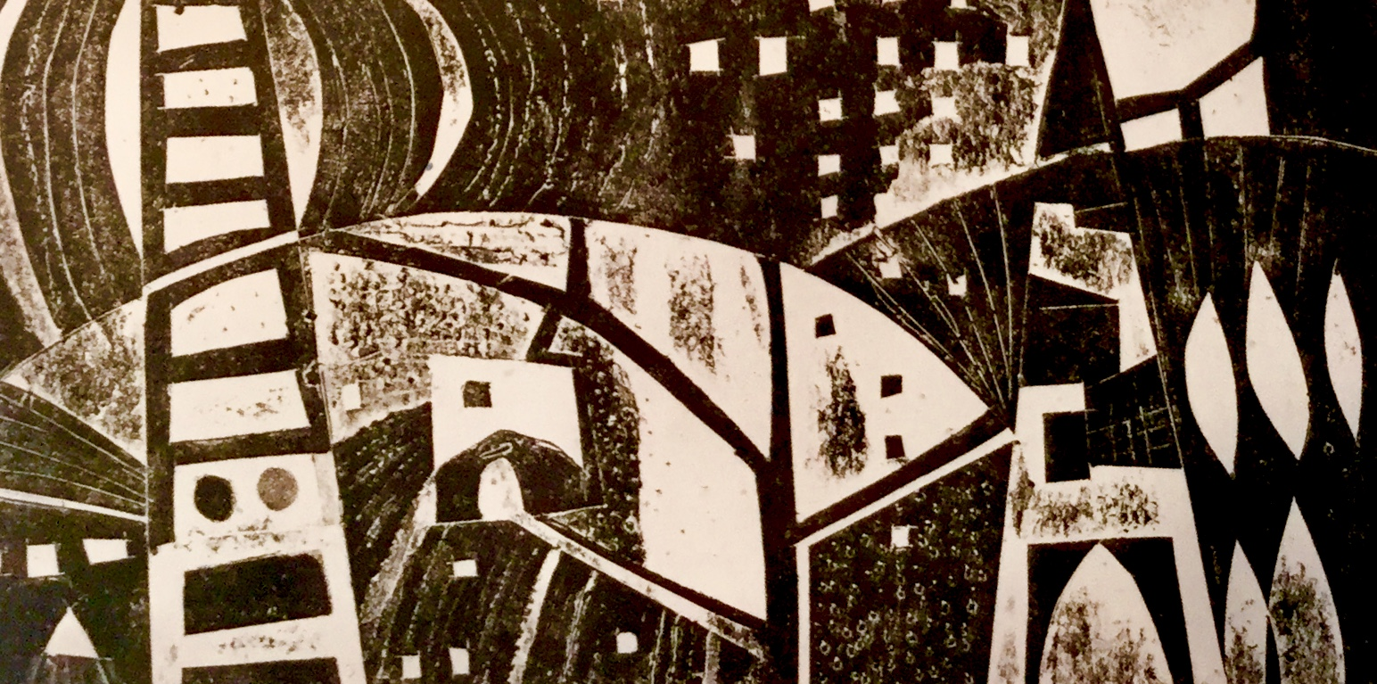 Black & White print Printmaking courses with Sue Jones at Cambridge Art Makers