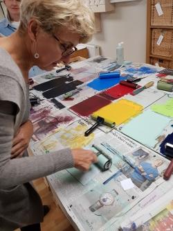 Susan Jones printmaking tutor at Cambridge Art Makers