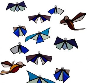 Things with Wings for Stained Glass courses with Jill Fordham at Cambridge Art Makers