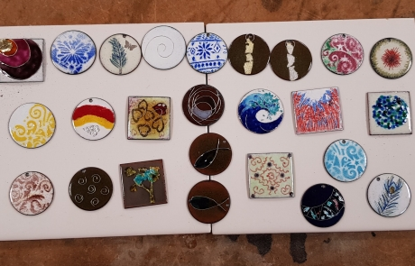 Intermediate Enamelling course with Sheila McDonald at Cambridge Art Makers