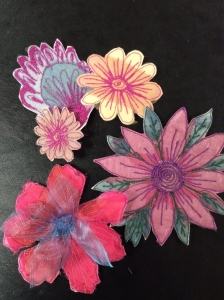 Free Motion Machine Embroidered Brooches with Gill Collinson at Cambridge Art Makers