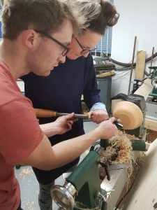 Bowl Turning COurses with Oly Moses at Cambridge Art Makers