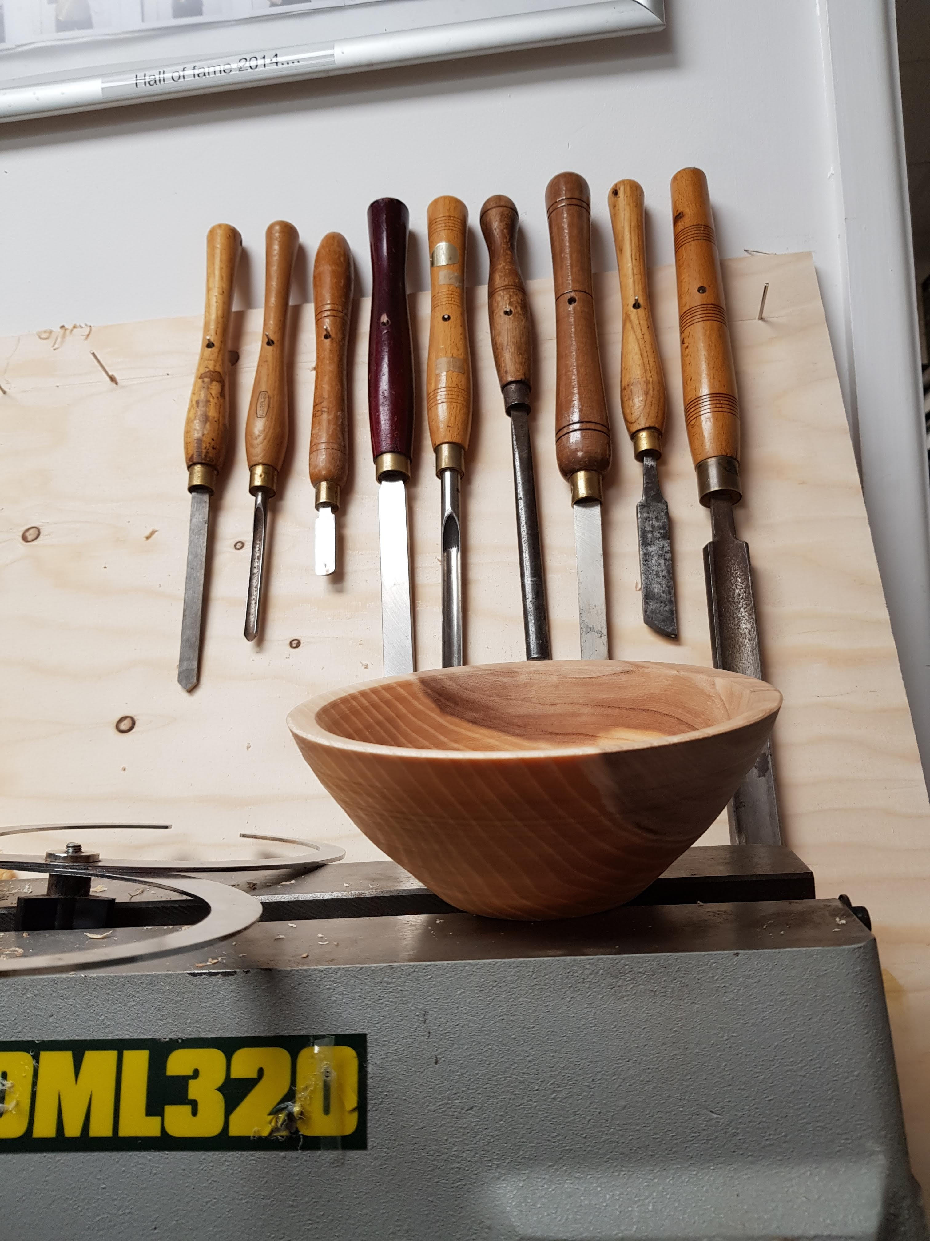 Bowl with chisels at Cambridge Art Makers