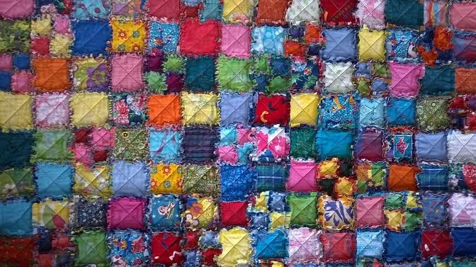 Raggy Quilt Patchworking course with Niki Chandler at Cambridge Art Makers