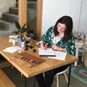 Danielle Lummis Calligraphy course tutor at Cambridge Art Makers