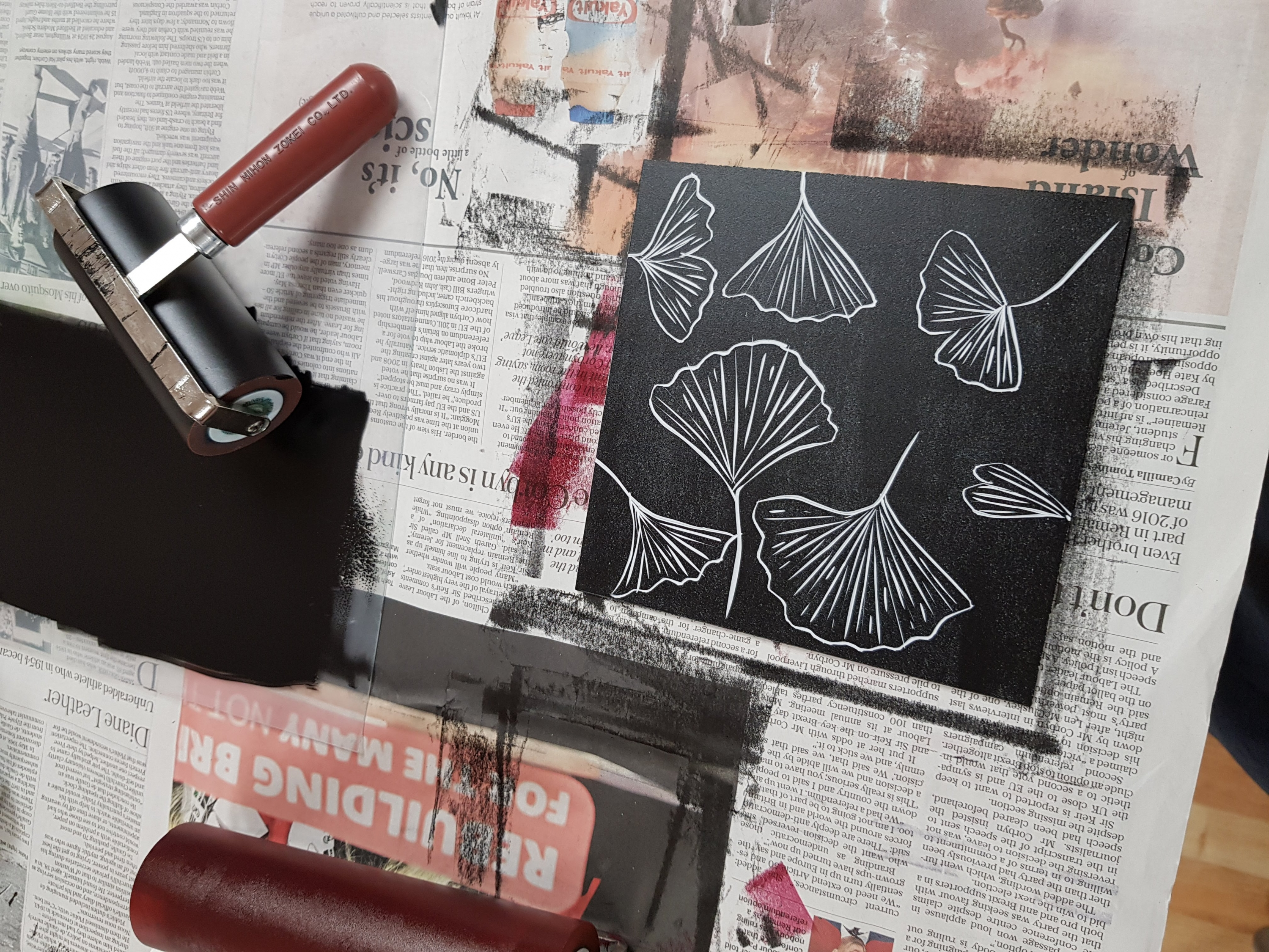 Printmaking course with Susan Jones at Cambridge Art Makers