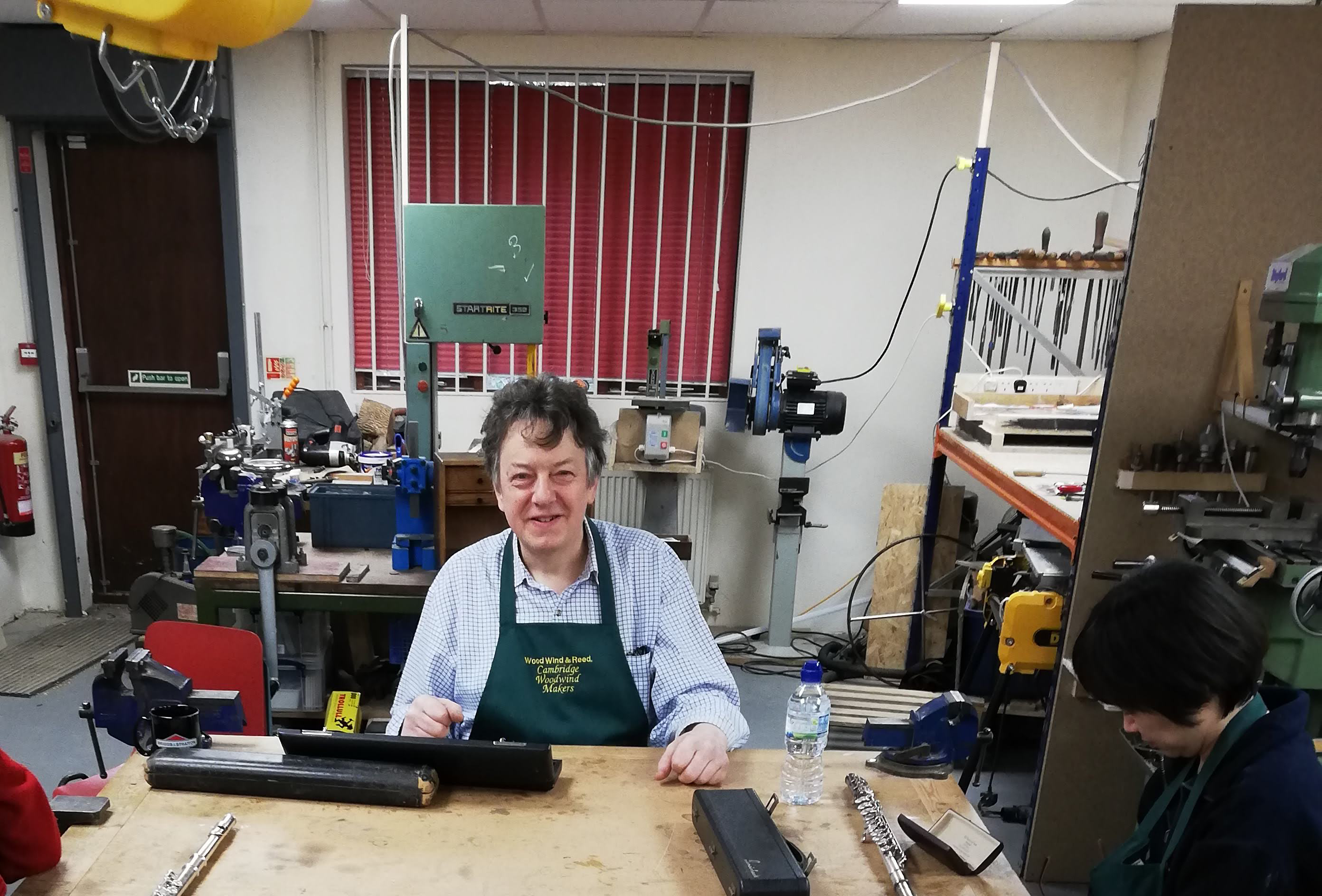Daniel Bangham of Cambridge Woodwind Makers