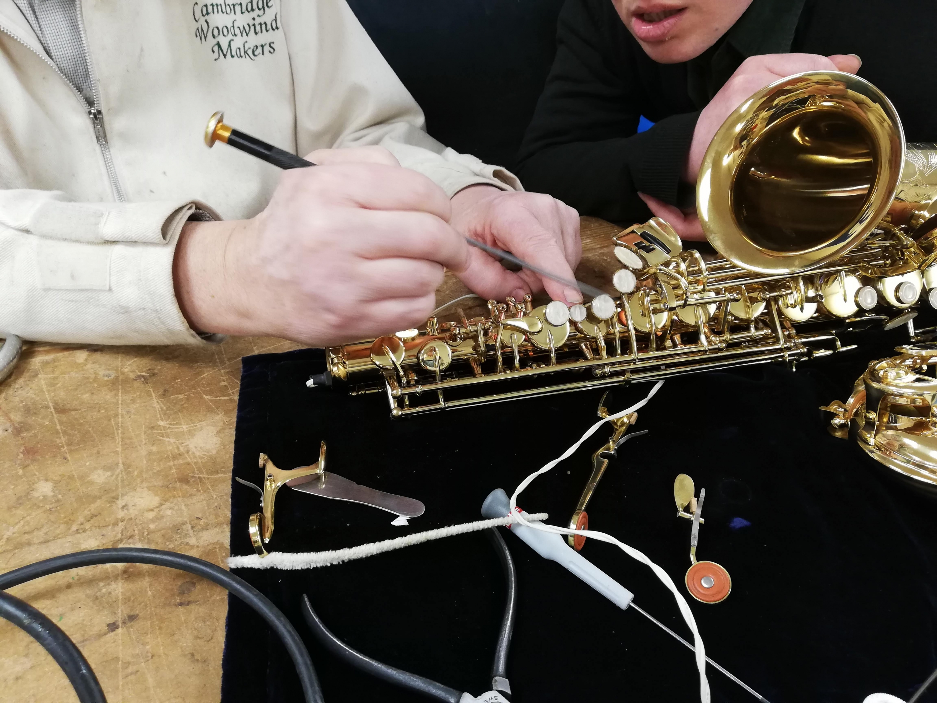Saxophone Repair and Care with Daniel Bangham at Cambridge Woodwind Makers