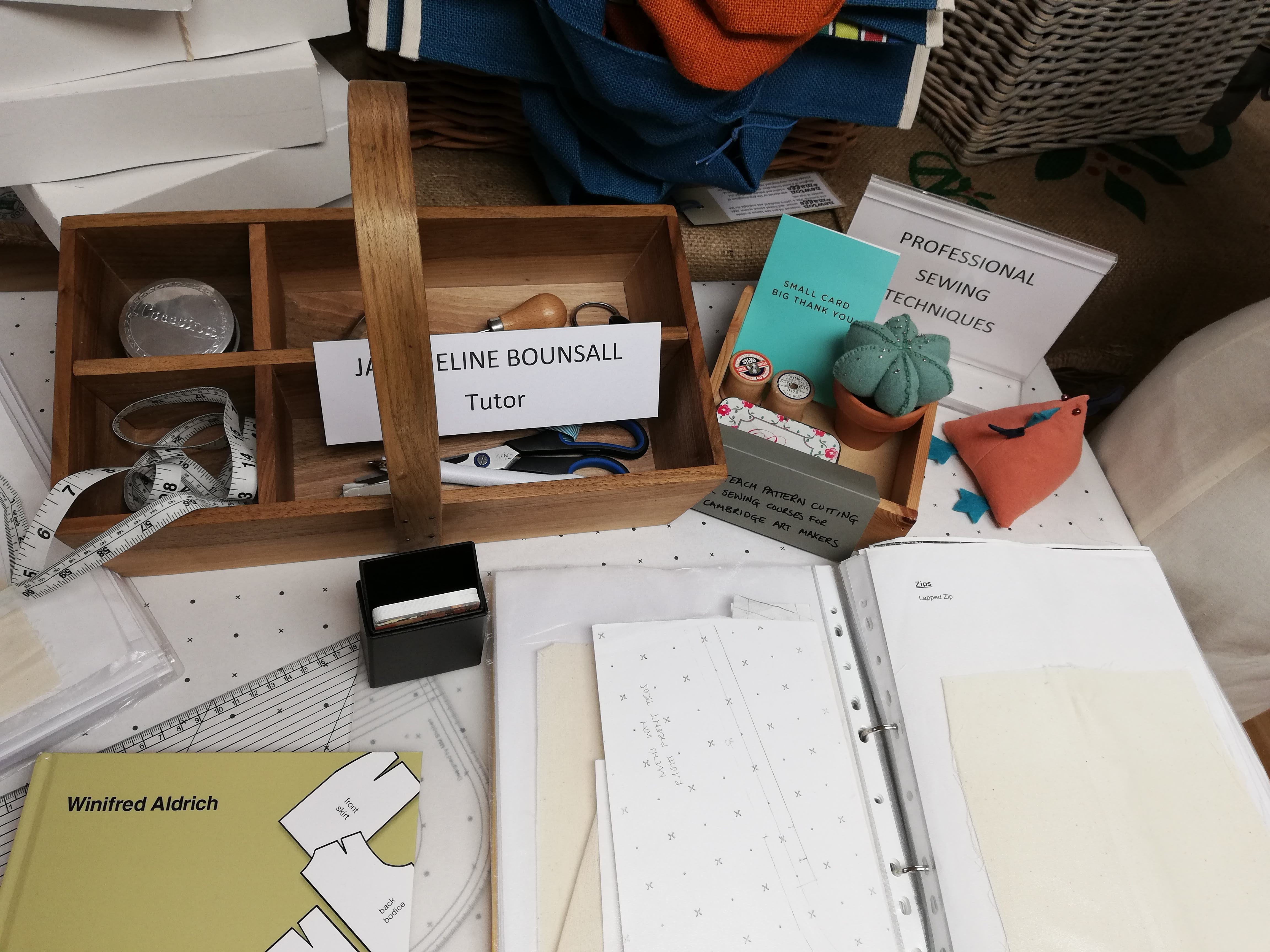Advanced Sewing Techqniues with Jacqueline Bounsall at Cambridge Art Makers