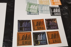 Creative Drawing course with Niki Chandler Book prints at Cambridge Art Makers