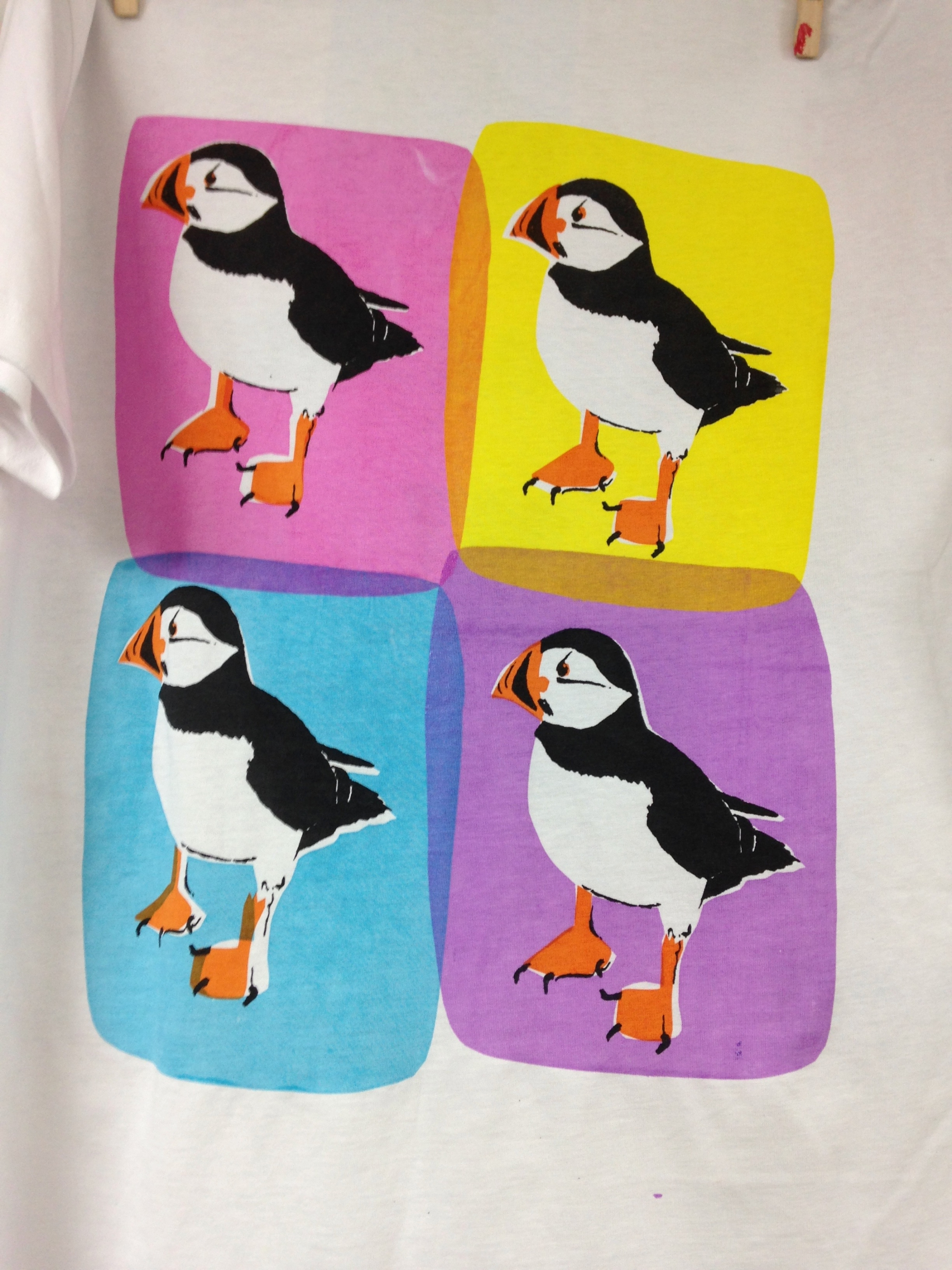 Screen Printed Puffins Screen Printing course with Sarah Ruff at Cambridge Art Makers