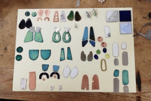 Kate's Jewellery from course with Rebecca Illet at Cambridge Art Makers