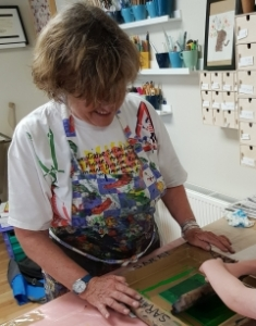 Sarah Ruff tutor of Screen Printing courses at Cambridge Art Makers