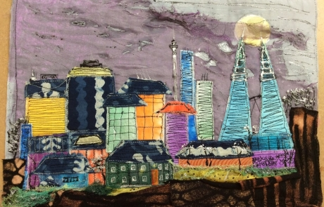 Cityscape Textiles & Mixed Media course with Gill Collinson at Cambridge Art Makers