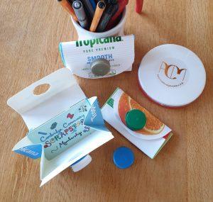 #covidcrafting juice carton