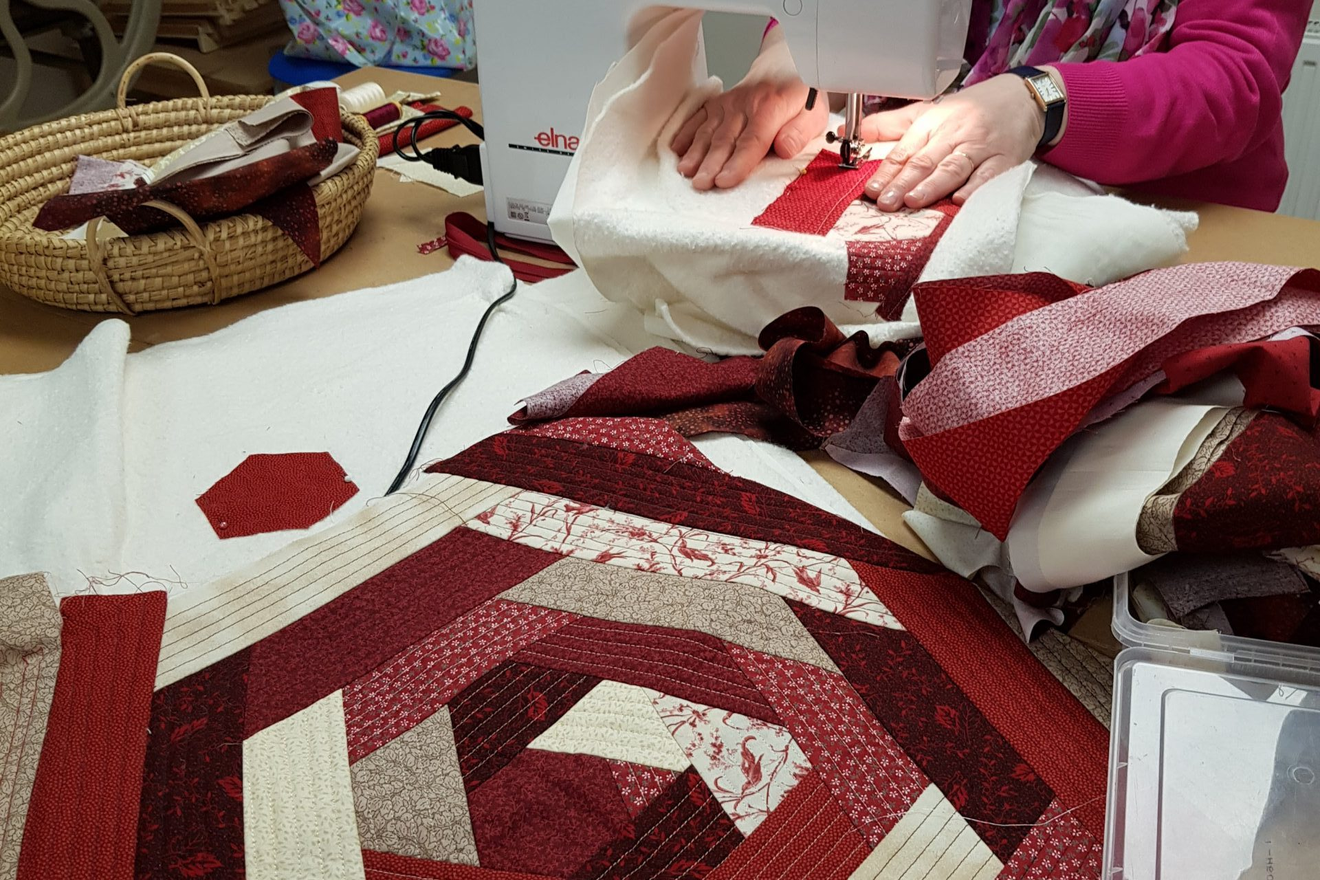 Learn to sew, Patchwork & Quilting, sewing machine, embroidery courses
