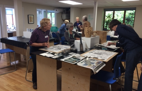 Creative Drawing class with Niki Chandler at Cambridge Art Makers monochrome