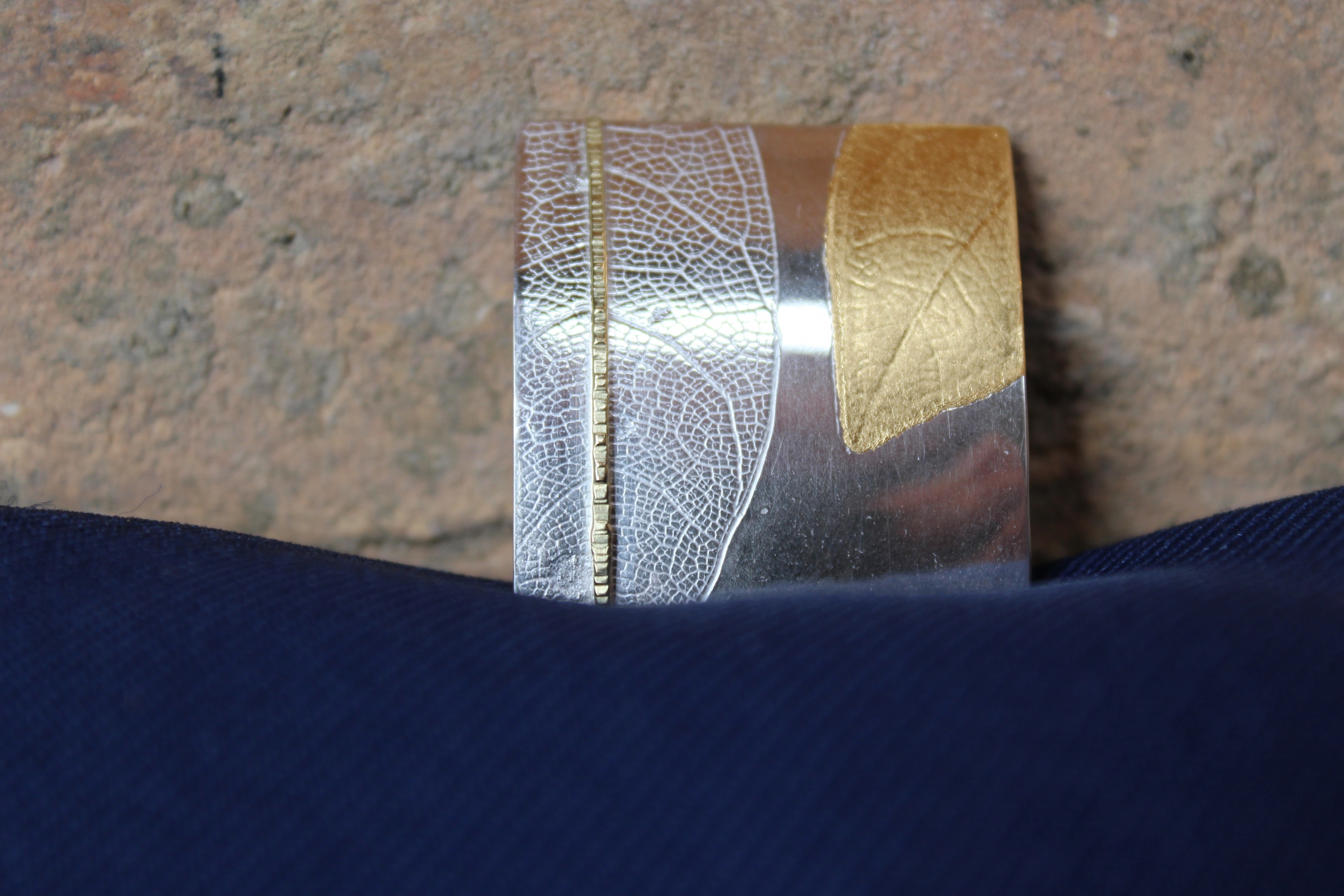 Leaf imprint brooch Jewellery & Silversmithing courses at Cambridge Art Makers