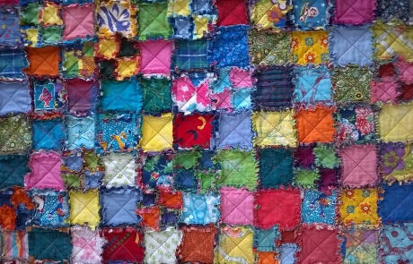 Raggy pathcwork quilt courses with Niki Chandler at Cambridge Art Makers