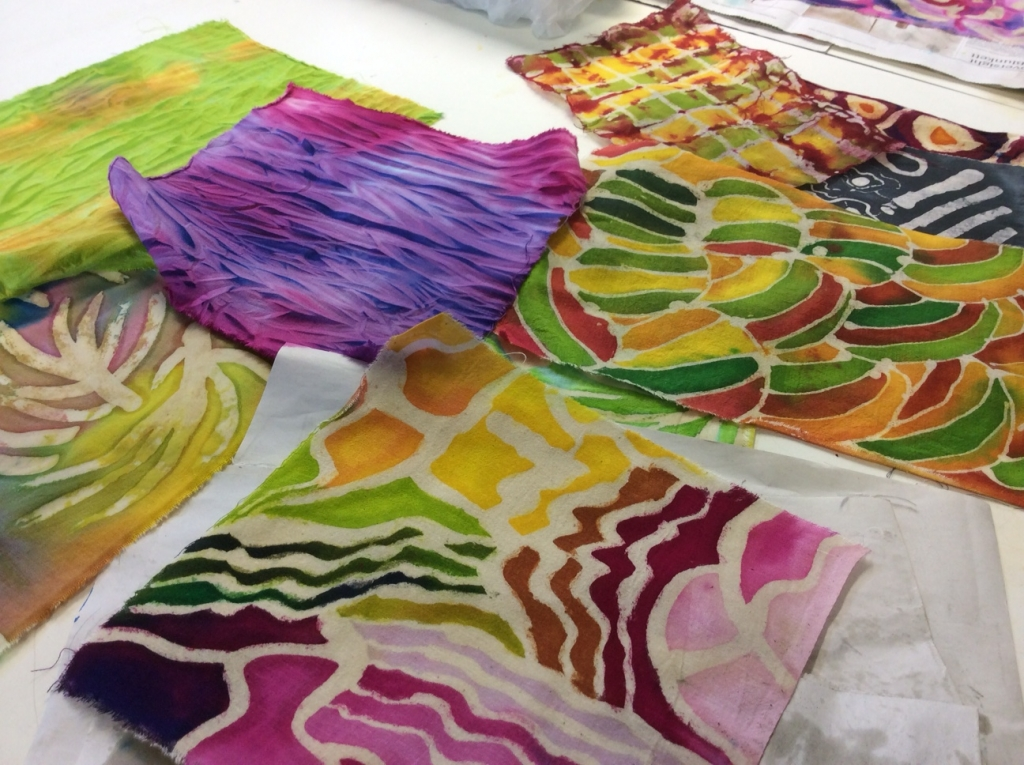 Batik Textiles & Mixed Media course with Gill Collinson at Cambridge Art Makers