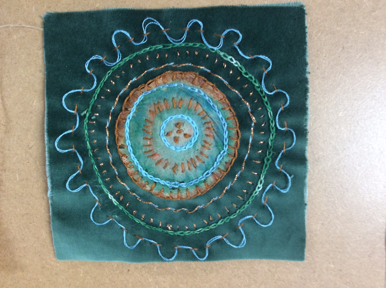 Embroidery and tea Textiles & Mixed Media with Gill Collinson at Cambridge Art Makers