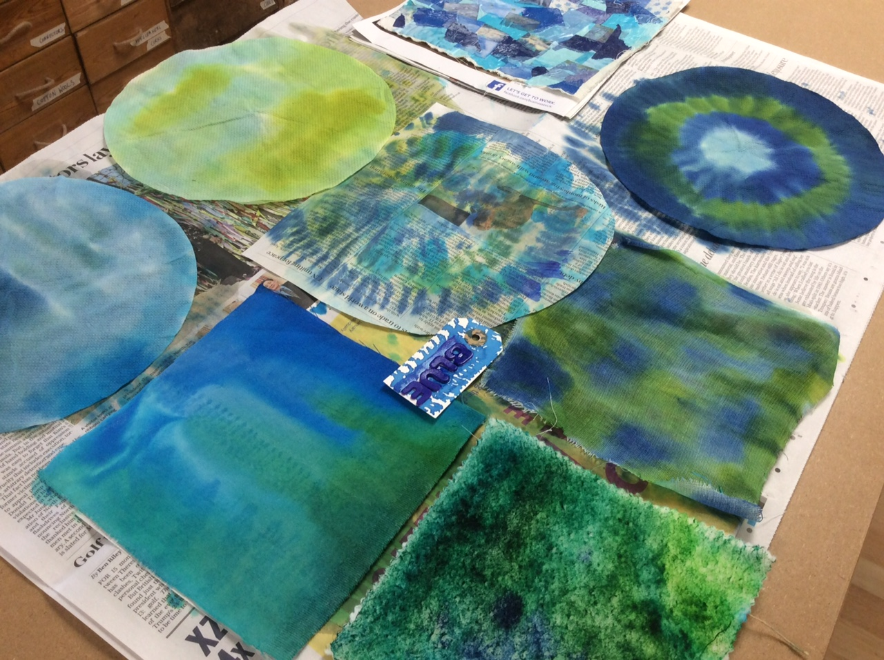 Blues and greens Textiles & Mixed Media with Gill Collinson at Cambridge Art Makers