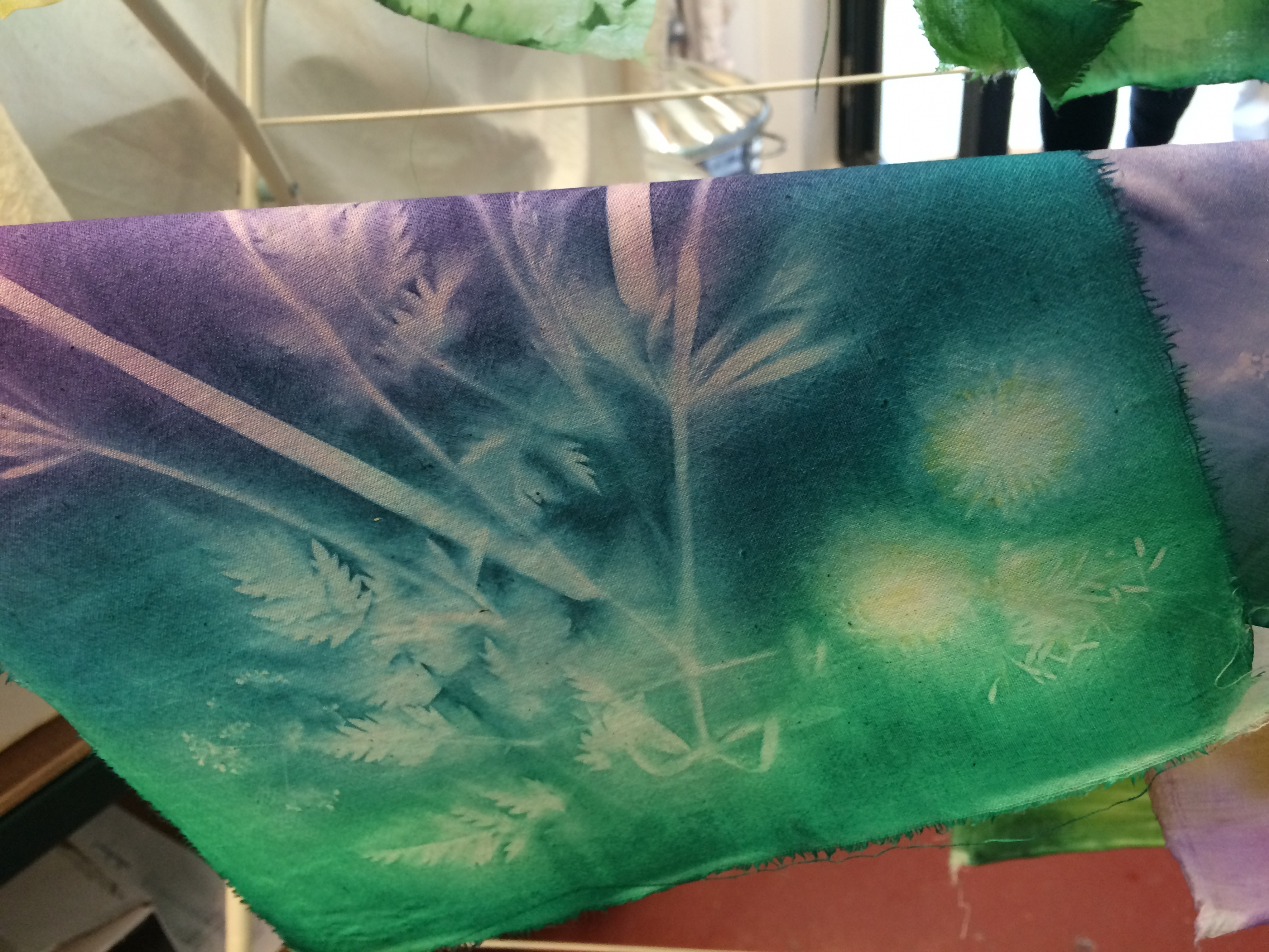 Sun bleaching Textiles & Mixed Media course with Gill Collinson at Cambridge Art Makers